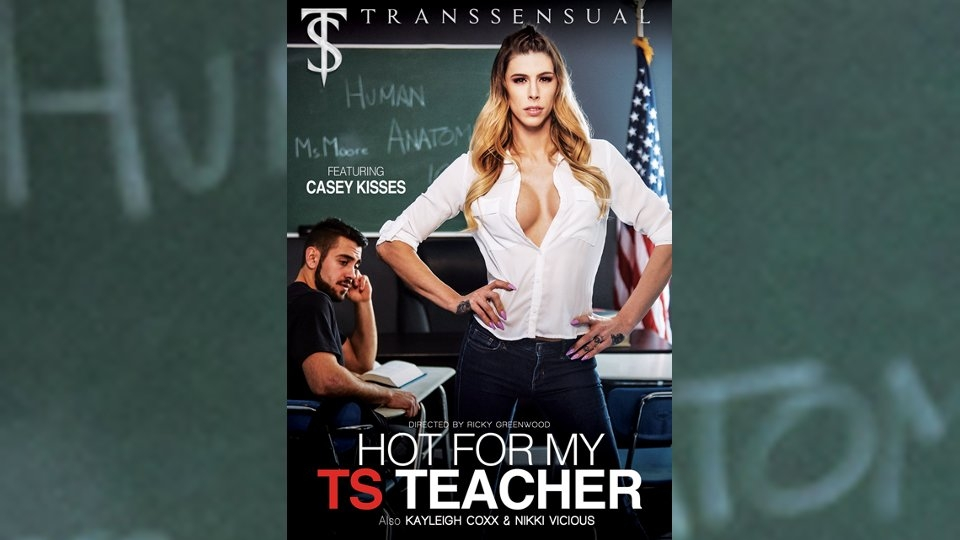 Casey Kisses Stars in 'Hot for my TS Teacher' for TransSensual