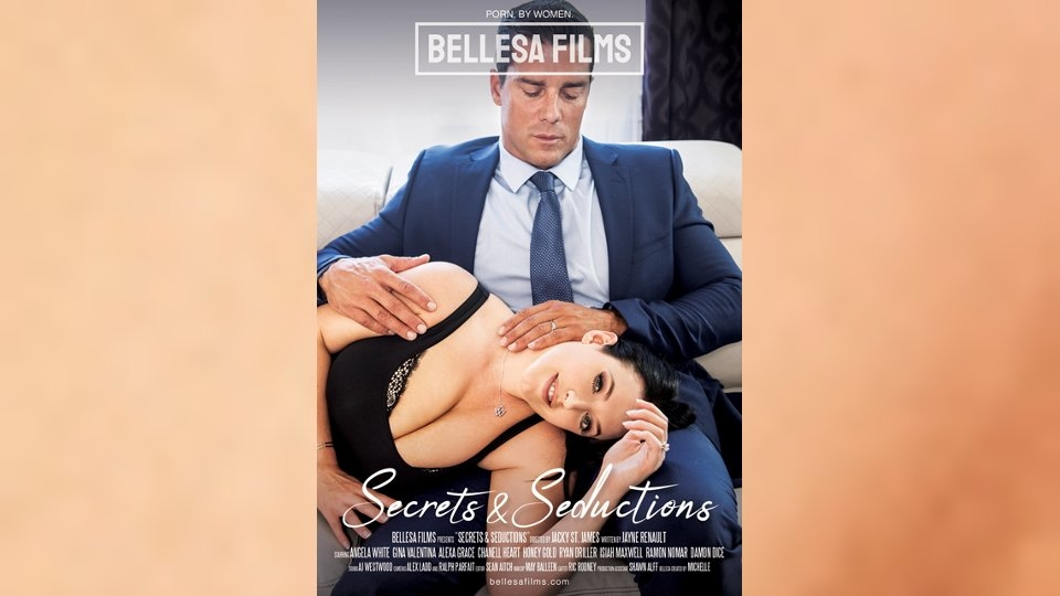 Angela White Savors 'Secrets' for Jacky St. James, Bellesa Films