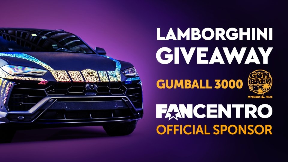 FanCentro Sponsors Gumball 3000 Rally, Gives Away Lambo