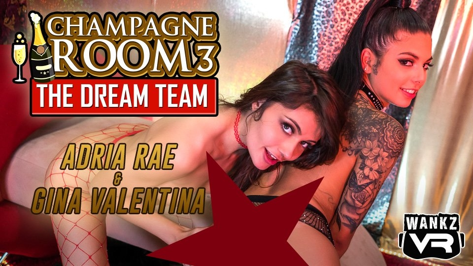 Adria Rae, Gina Valentina Give a 'Champagne Room' Experience at WankzVR