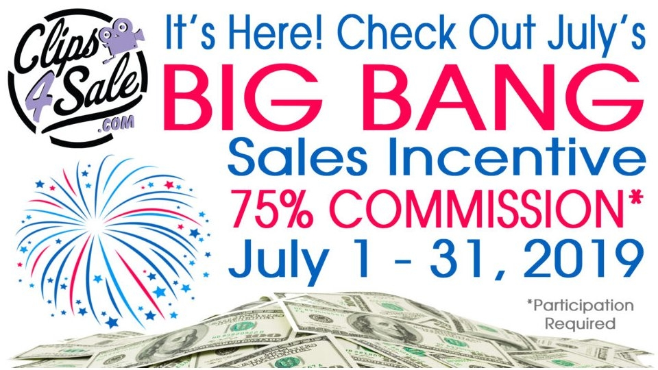 Clips4Sale Rolls Out July 'Big Bang' Sales Incentive