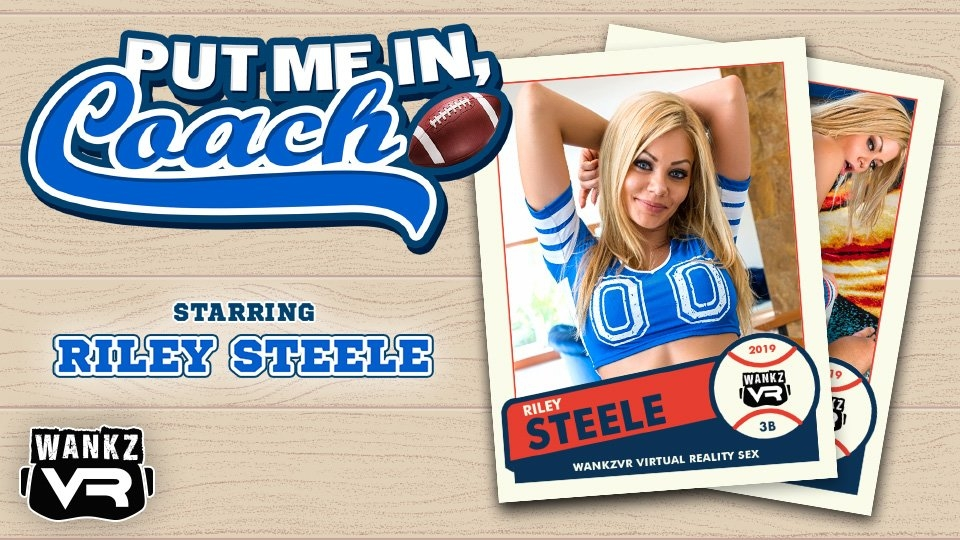 Riley Steele Makes a Sporty WankzVR Debut in 'Put Me In, Coach!'