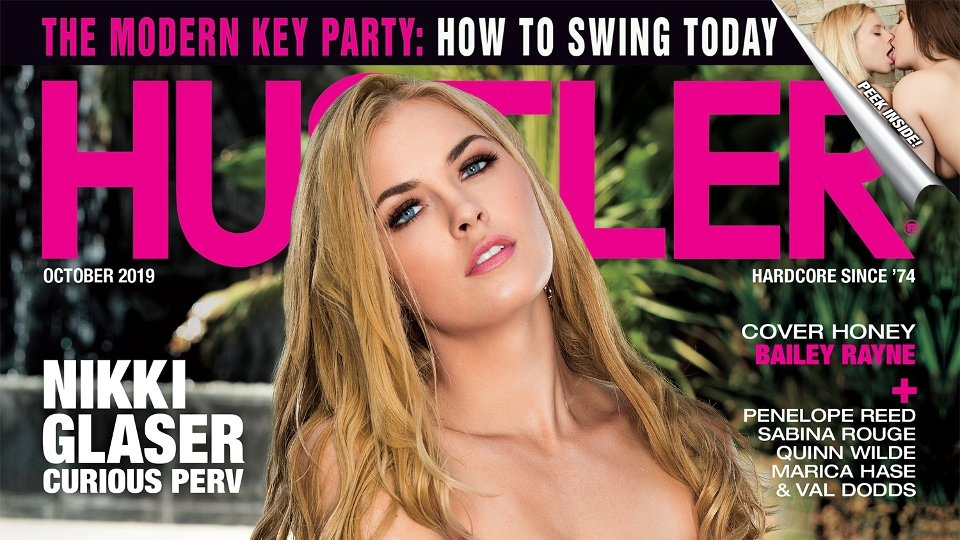 Beauty Bailey Rayne Covers October Issue of Hustler