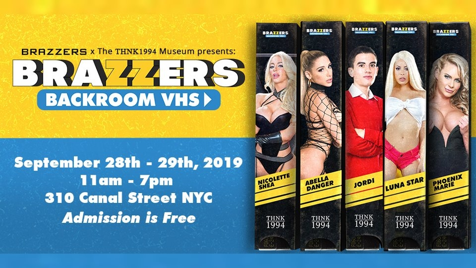 Brazzers Enters 'Time-Traveling Art Exhibit' in 'Backroom VHS'