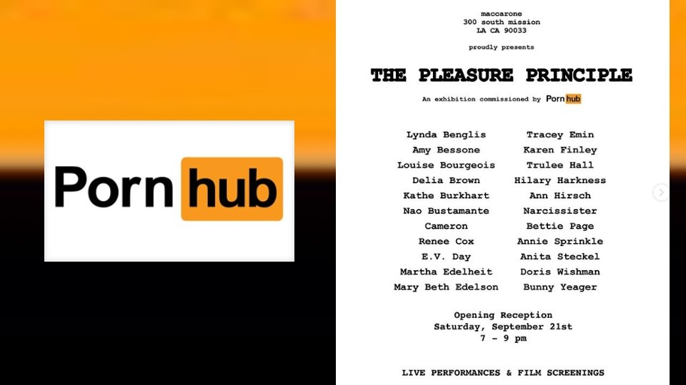 Pornhub to Sponsor 'Pleasure Principle' Fine Art Exhibition