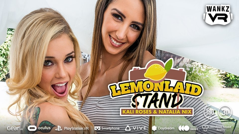 Kali Roses, Natalia Nix Get Freshly Squeezed in WankzVR's 'LemonLaid Stand'