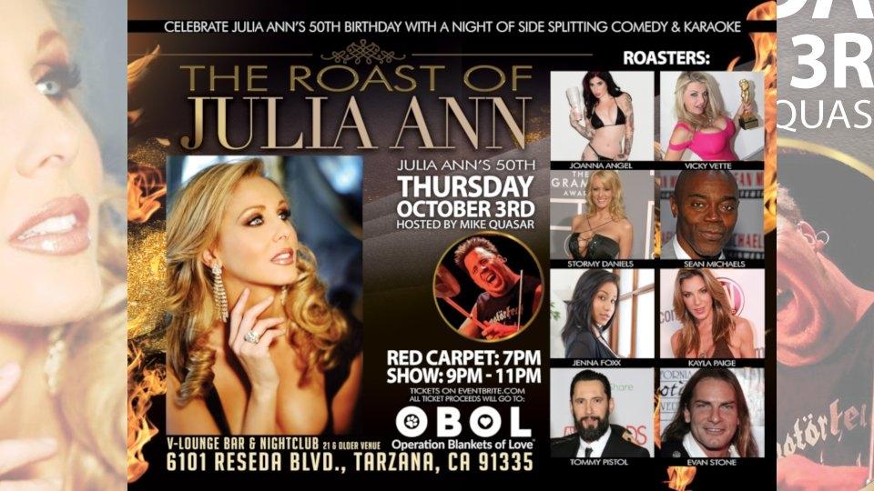 Birthday Roast of Julia Ann Set for This Thursday in Tarzana
