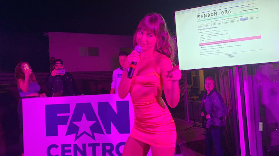 FanCentro Gives Away Lambo During Raucous House Party