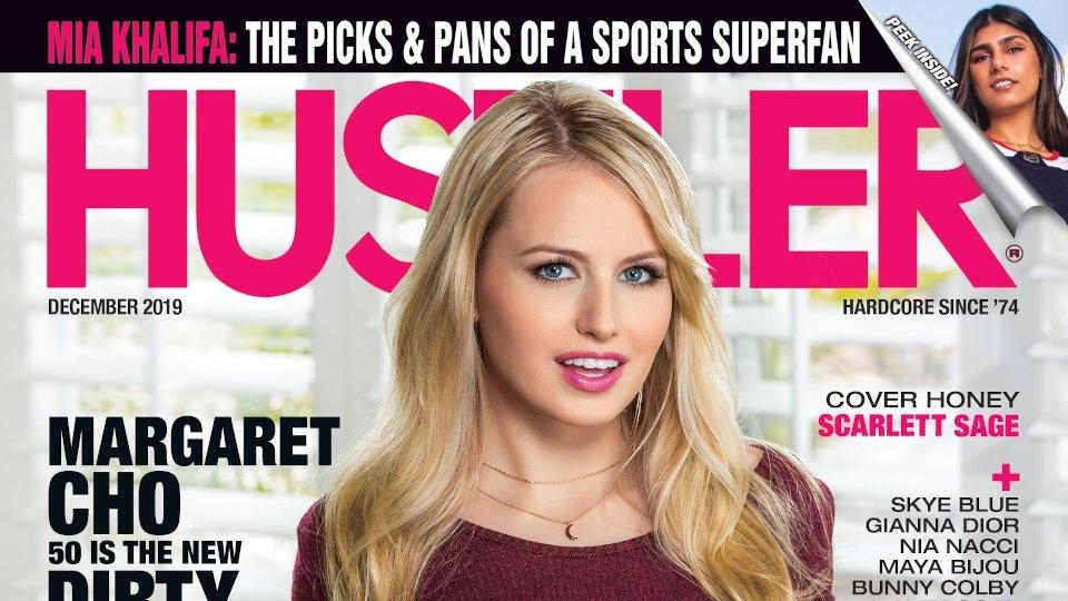 Scarlett Sage Covers November Issue of Hustler