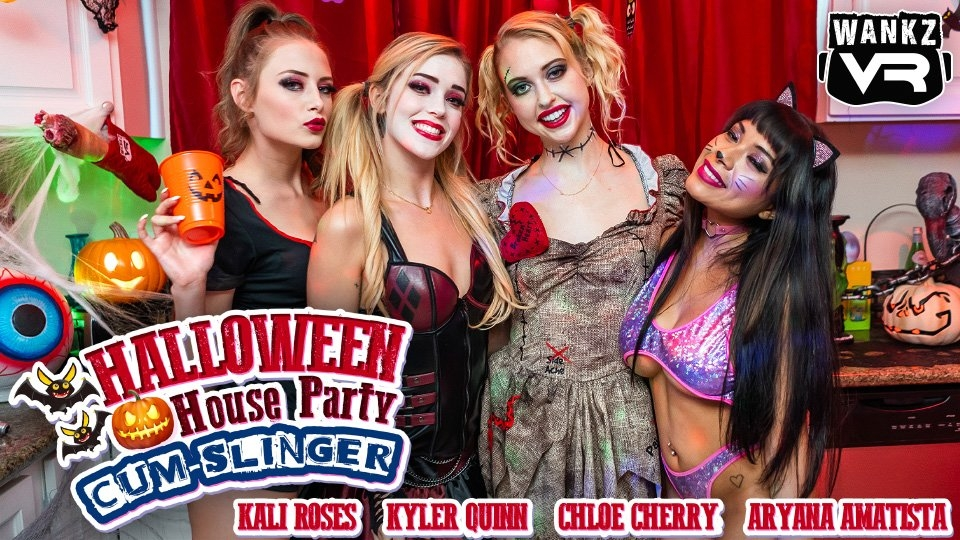 WankzVR Releases Group Sex Special, 'Halloween House Party'