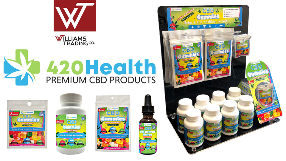Williams Trading Adds 420 Health to Lineup of CBD Offerings