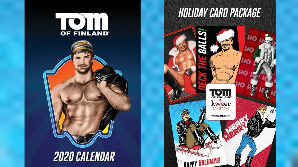 Kweer Cards Touts Tom of Finland Holiday Cards, 2020 Calendar