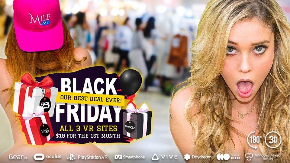'ThanksSwinging Day' Leads WankzVR, MILF VR, TranzVR $10 Triple-Shot Promo