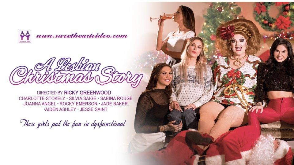 Joanna Angel, Charlotte Stokely Spread 'Lesbian Christmas' Mayhem for Sweetheart