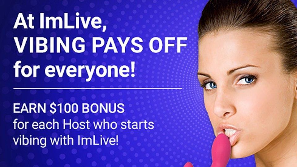 ImLive Offers $100 'Vibing' Bonus for Chat Hosts