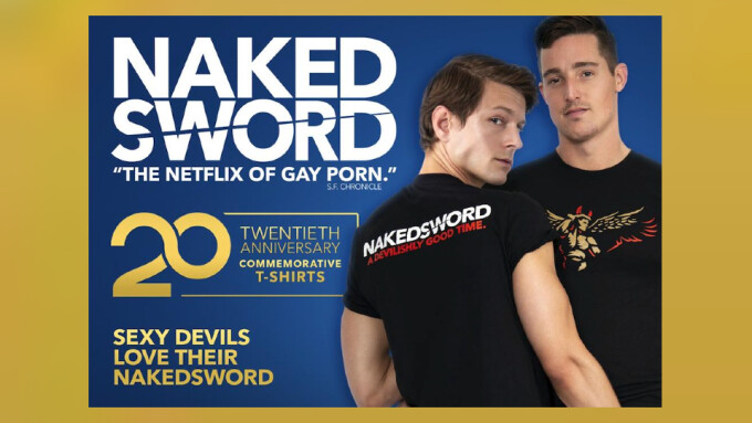 NakedSword Releases 20th Anniversary 'Sexy Devil' Tees