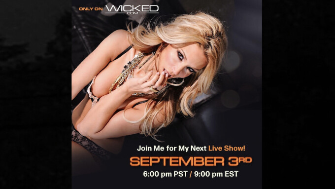 Jessica Drake to Perform Live on Wicked.com Tomorrow