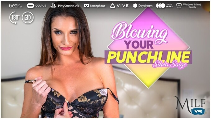 Silvia Saige Is 'Blowing Your Punchline' for MILF VR