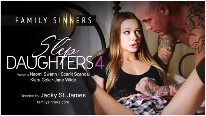 Family Sinners Releases Fauxcest Fantasy 'Step Daughters 4'