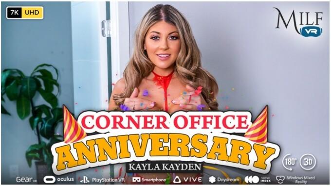 Kayla Kayden Plans Sexy 'Corner Office Anniversary' for MILF VR
