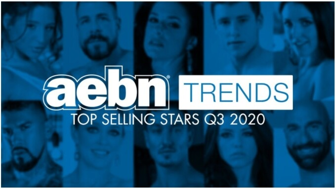 AEBN Top Stars for Q3 Include Angela White, Boomer Banks