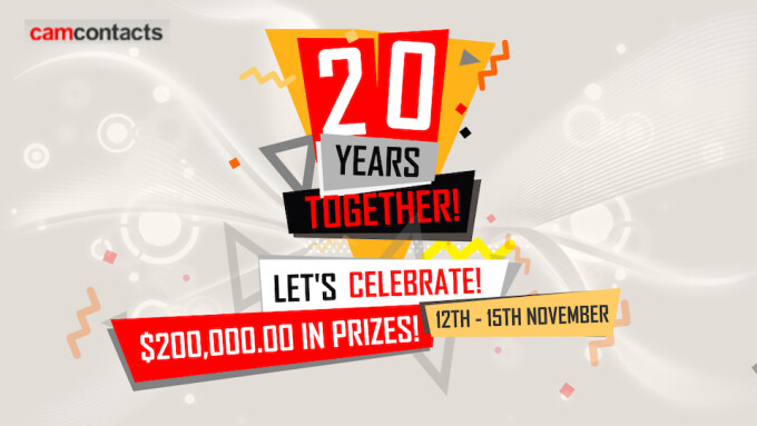 CamContacts Celeberates 20th Anniversary With $200K Promo