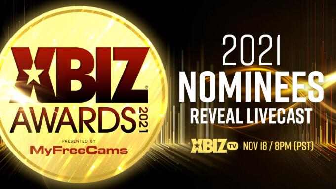 2021 XBIZ Awards Nominees Reveal Livecast Tonight on XBIZ.tv