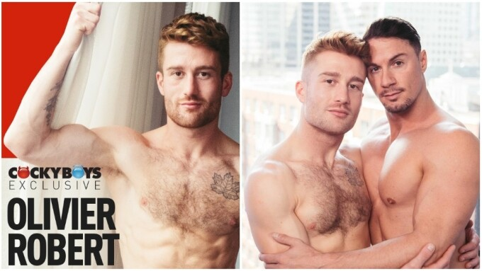 CockyBoys Inks Newcomer Olivier Robert to Exclusive Contract