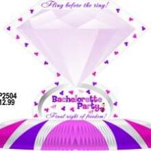 Bachelorette Diamond Shaped Table Centerpiece