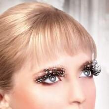 Brown Feather Eyelashes