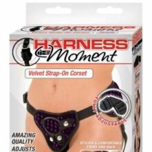 Harness The Moment Velvet Strap-on Corsets