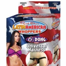 "Latin American Whoppers 6 1/2"" Dong With Universal Harness"