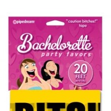 "Bachelorette Party Favors ""Caution Bitches!"" Tape"