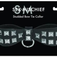 Studded Bow Tie Collar