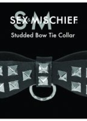 Studded Bow Tie Collar