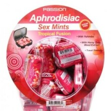 Tropical Fusion Aphrodisiac Sex Mints Retail Fishbowl Display- 60 Piece Display