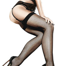 Fishnet Thigh Hight with Back Seam - Afterdark Hosiery by Baci