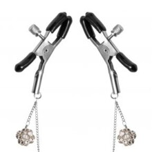 Master Series Ornament Adjustable Nipple Clamps with Jewel Accents