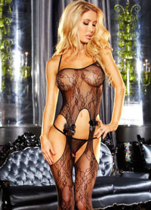 Lapdance Crotchless Lace Bodystocking
