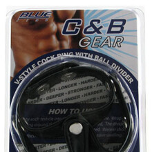 C&B Gear V-Style Cock Ring With Ball Divider