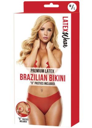 Premium Latex Brazilian Bikini