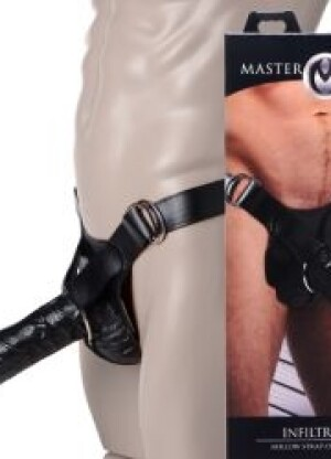 Master Series Infiltrator Hollow Strap-on With 10 inch Dildo