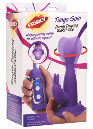 Frisky Tango Spin Purple Vibrating Rabbit Vibe