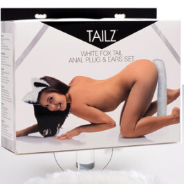 Tailz White Fox Tail Anal Plug & Ears Set