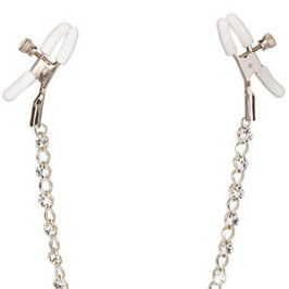 Crystal Chain Nipple Clamps