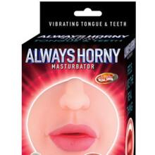 Always Horny Masturbator Vibrating Tongue & Teeth