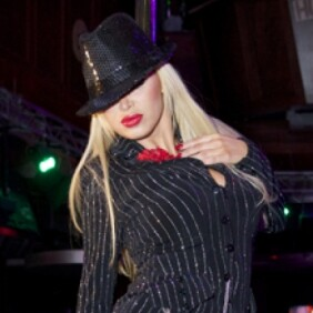 Nikki Benz, Mary Carey and Rubber Doll at Hustler Club